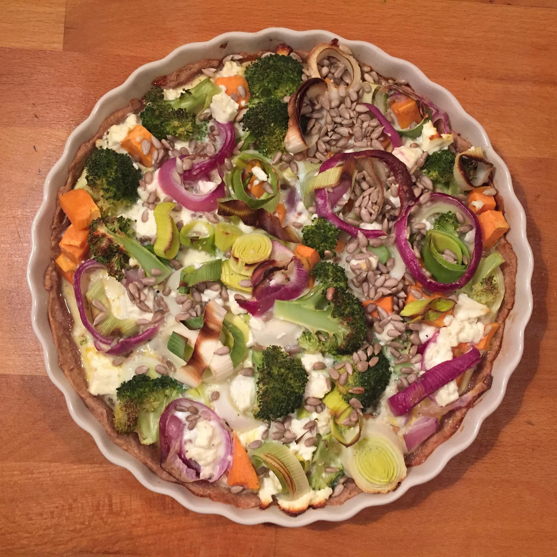 Gemüse-Quiche mit Feta