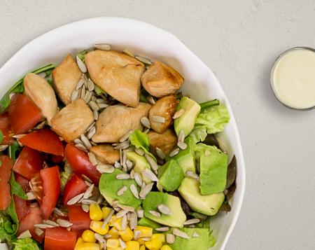 K3 Avocado Hähnchen Salat
