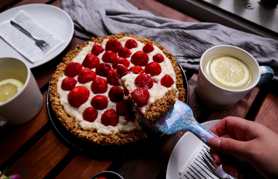 Gesunder Erdbeerkuchen Fruchtig Und Lecker Eatclever Blog