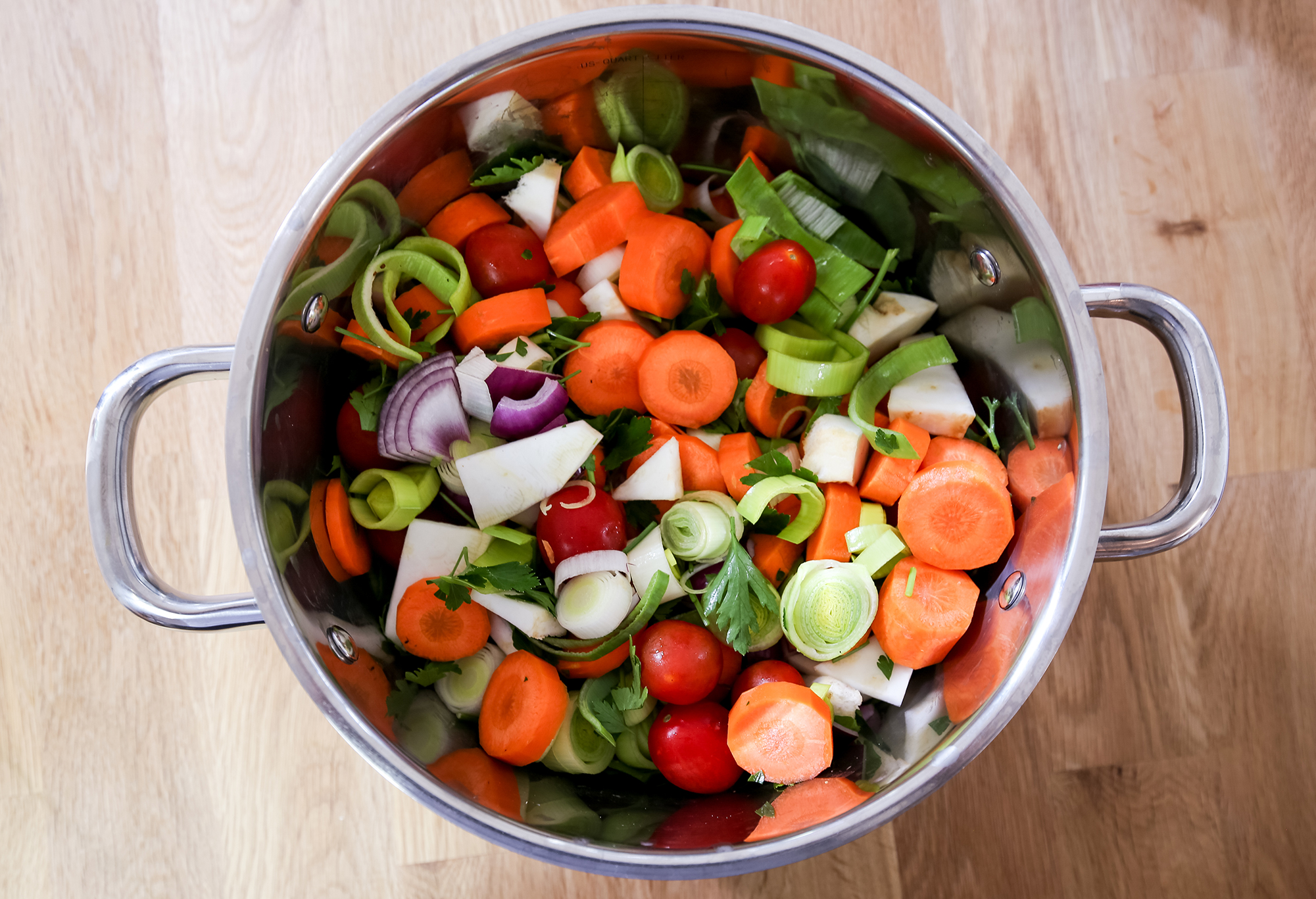 Selbstgemachte Gemüsepaste