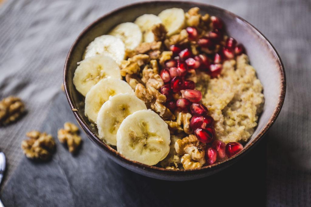 Hirse Porridge: Nahaufnahme