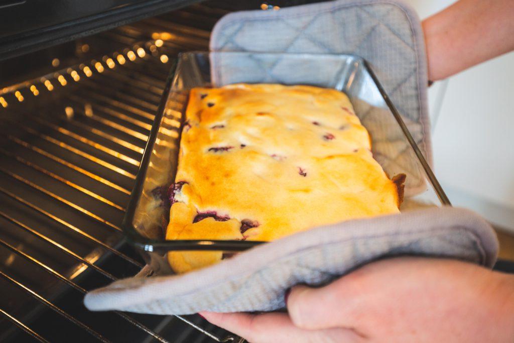 Quarkauflauf: Ofen