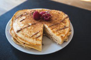 Quarkpancakes: angeschnitten
