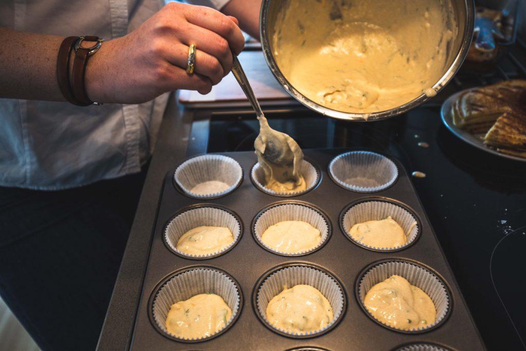 Muffin: herzhaft Zubereitung