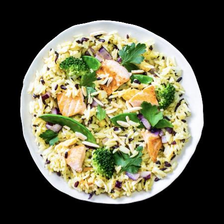 Fried Salmon Rice