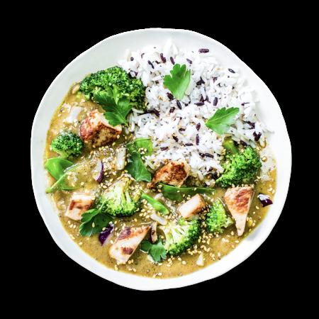 Green Lemongrass Chicken Curry