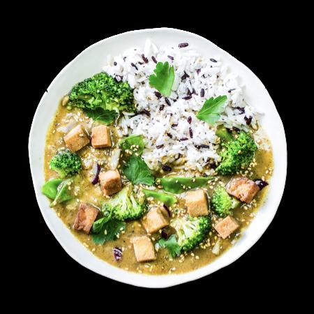Green Lemongrass Tofu Curry