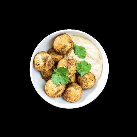 Lentil Balls & Hummus
