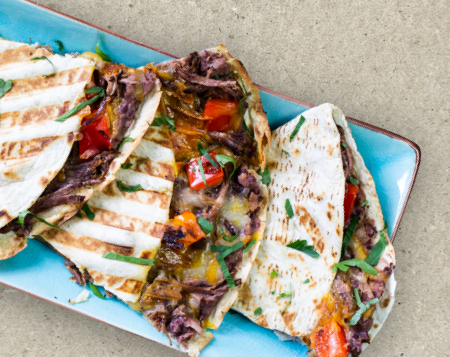 Quesadilla Pulled Beef Bash