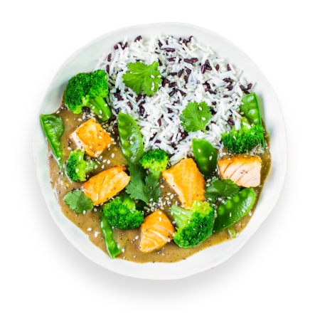 Green Lemongrass Salmon Curry