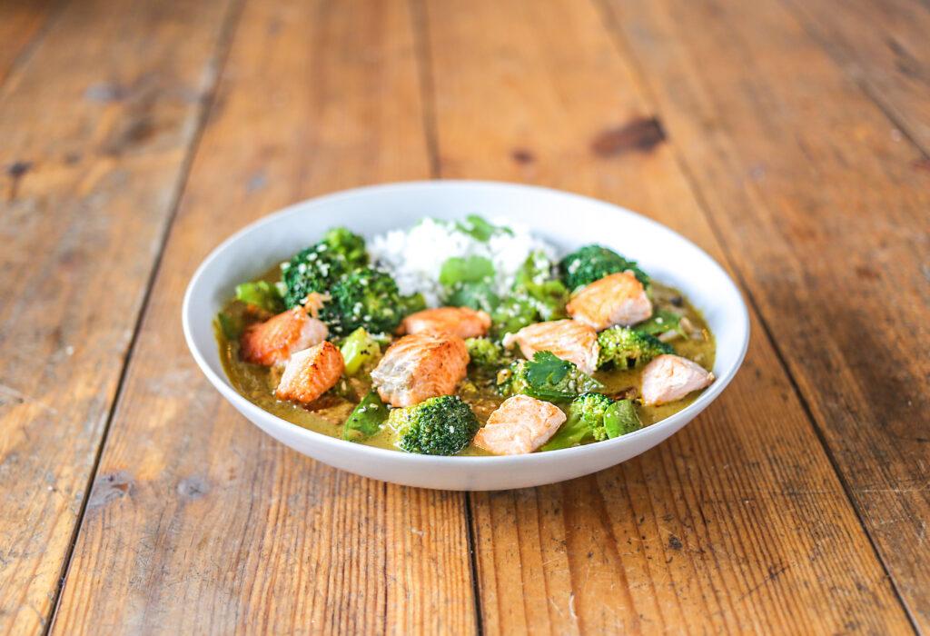 Die thailändische Küche bei taste&soul: Green Lemongrass Salmon Curry